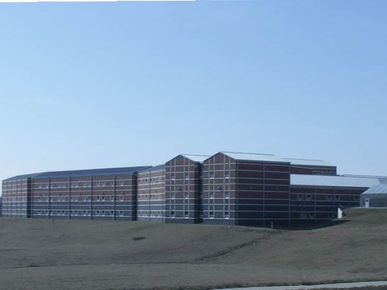 Back view of Ozark High School