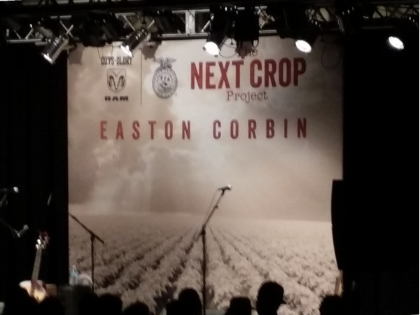 Thank you Easton Corbin for supporting our FFA!  Awesome private concert in Cassville