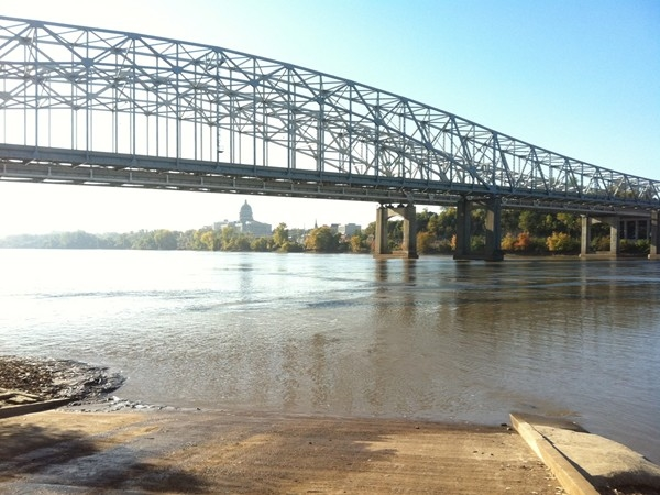 Boat launch into Missouri River, Jefferson City