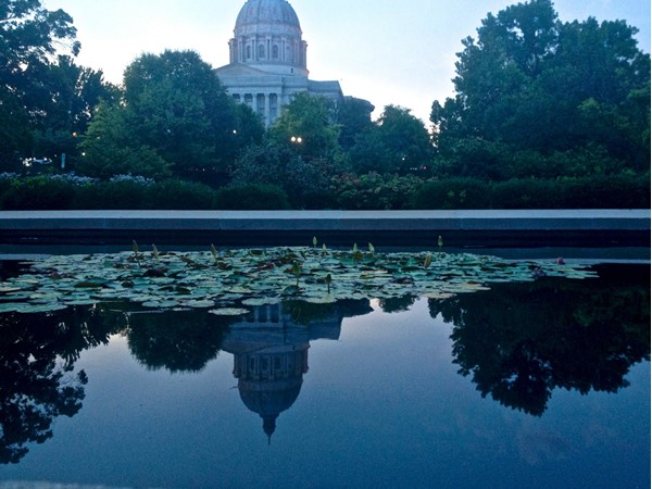 Residents of Jefferson City enjoy strolling around the beautiful Governer's Garden in the evening