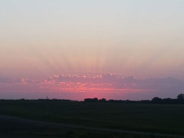 Gorgeous Lafayette County sunset. Country living in rural Missouri