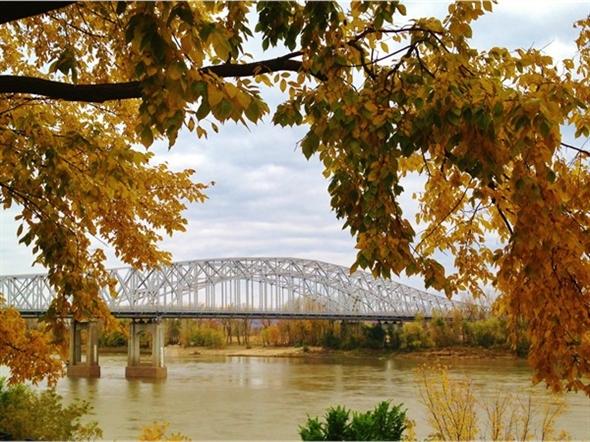 The Missouri River Bridge, Jefferson City MO