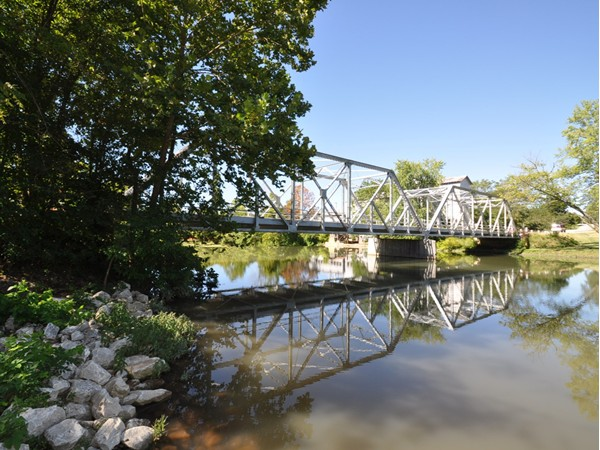 The Finley River Bridge on a warm summer day
