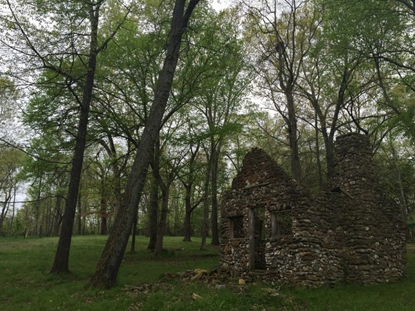 Old rock cottage along Lake Taneycomo