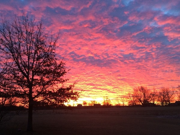 Winter sunrise in Bates City, MO