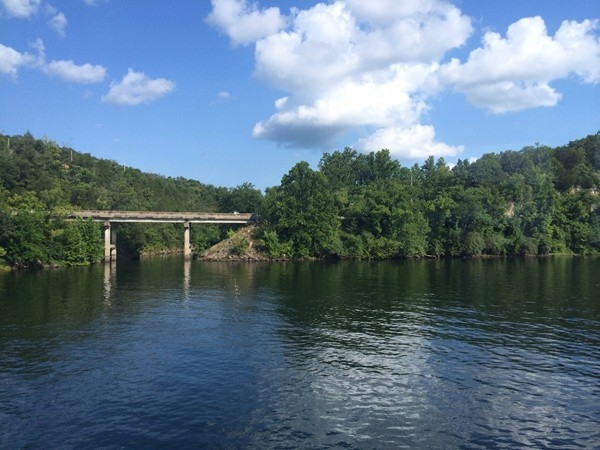 Coon Creek meets Lake Taneycomo