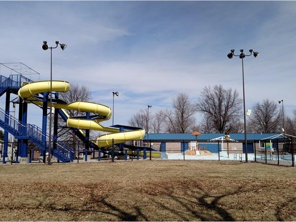 Higginsville municipal swimming pool in Fairground Park