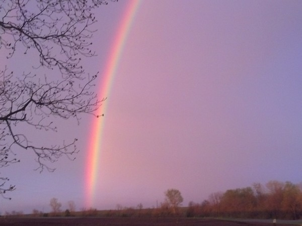 Spring nights are so pretty...especially when the pot of gold lands in Higginsville.