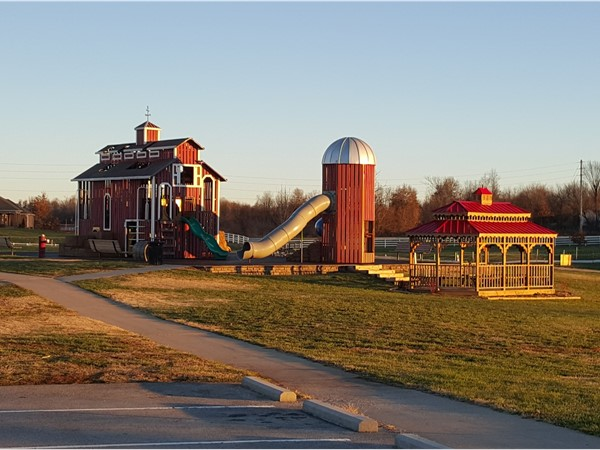 The playground at Rutledge-Wilson Farm Community Park