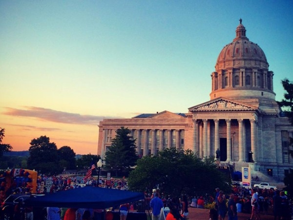 We love our 4th of July festivities around the Missouri State Capitol Building