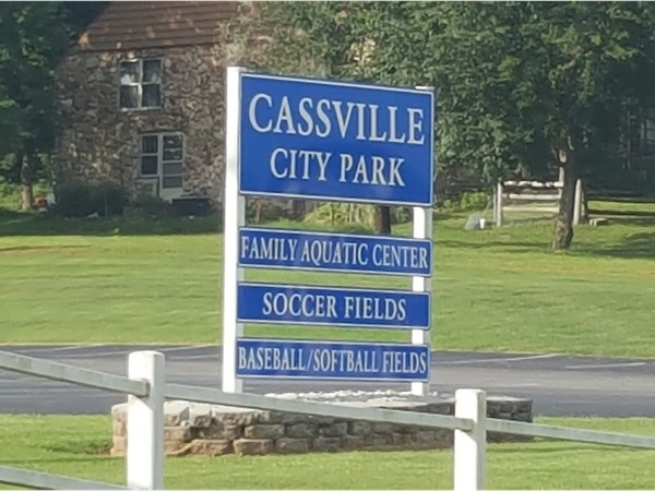 Cassville City Park.  Aquatic Center, soccer and baseball fields