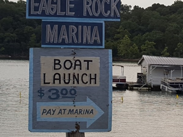 Only $3.00 to launch your boat at Eagle Rock Marina