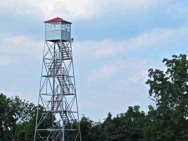 The Rocky Mount Fire Tower overlooks the wildlife of the Runge Nature Center