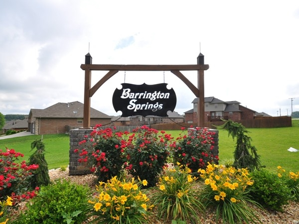 Barrington Springs subdivision entrance