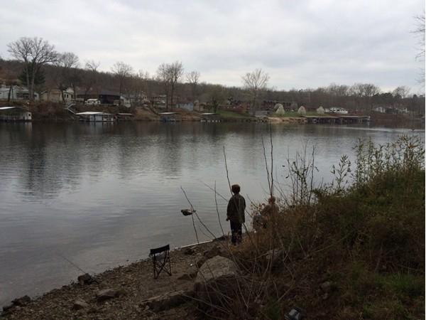Fishing on Taneycomo