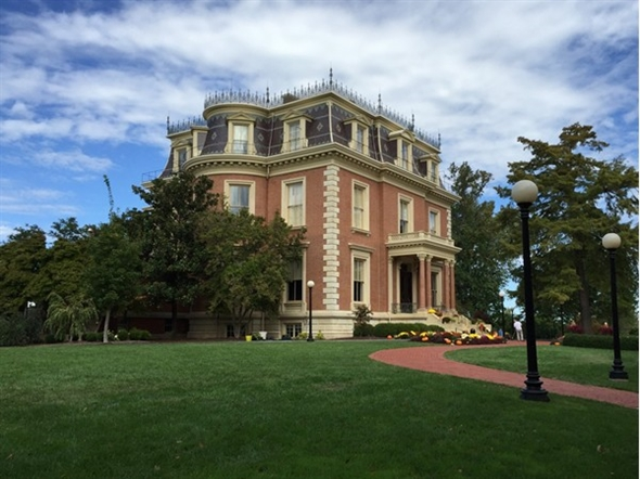 Governor's mansion on a sunny day
