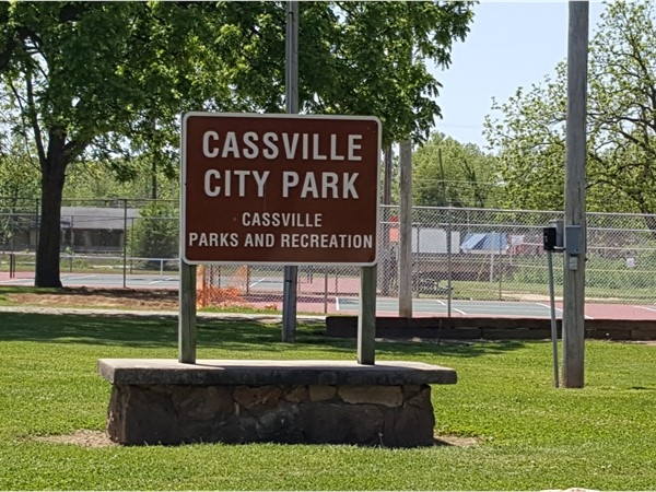 Cassville City Park. Tennis, baseball and playground