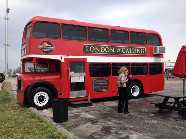 """London Calling"" is a classic British double-decker bus turned food truck."