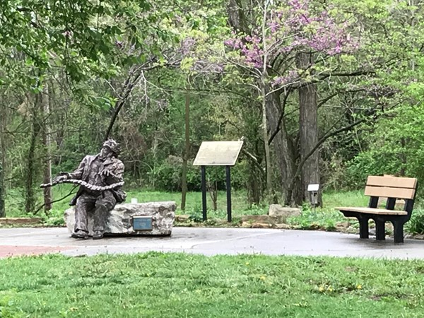 Well maintained Blind Boone Park is located near the intersection of Pine Street and S Warren