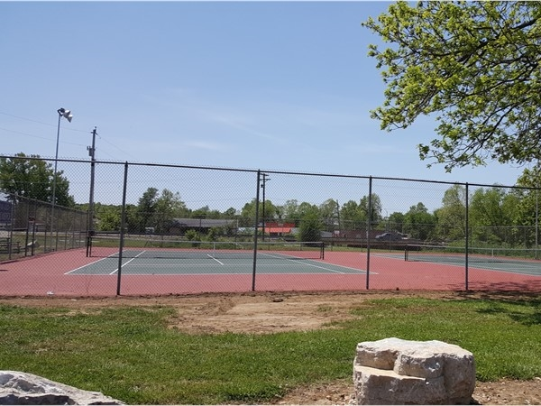 Tennis courts located at the Cassville City Park