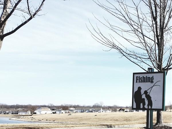 Fishing in White Oaks Crossing