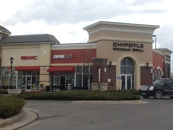 Chipotle Mexican restaurant in the Shoppes of North Village