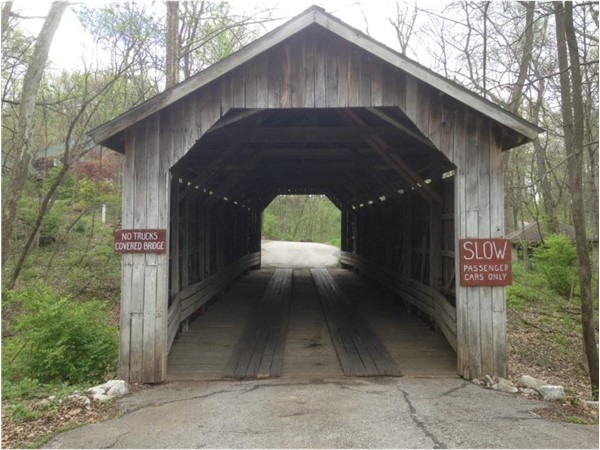 West Covered Bridge Road ~ Unique covered bridge located in a cozy, country wooded neighborhood.