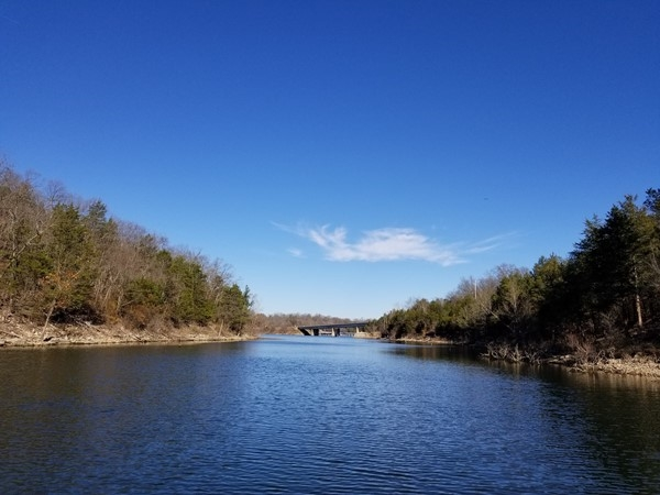 Eagle Rock bridge in the distance. We found some crappie today
