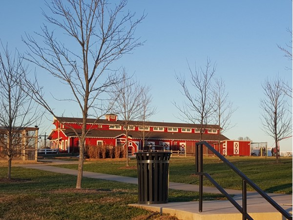 The barn at Rutledge-Wilson Farm Community Park