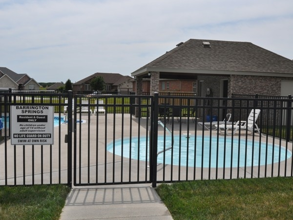 Barrington Springs Clubhouse and community pool