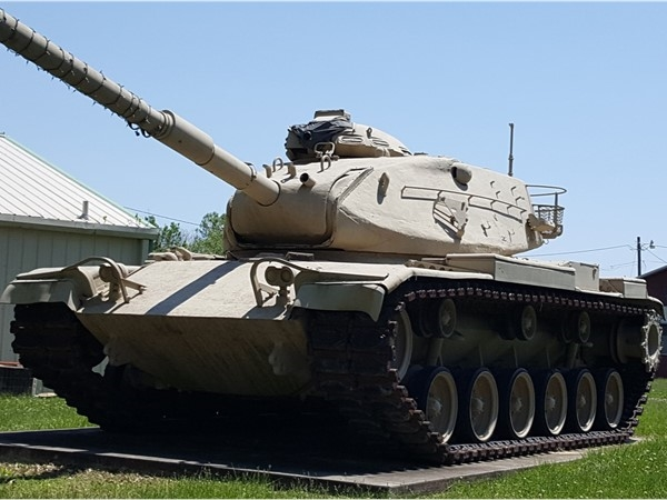 This tank is located at the American Legion. It would be interesting to know its history