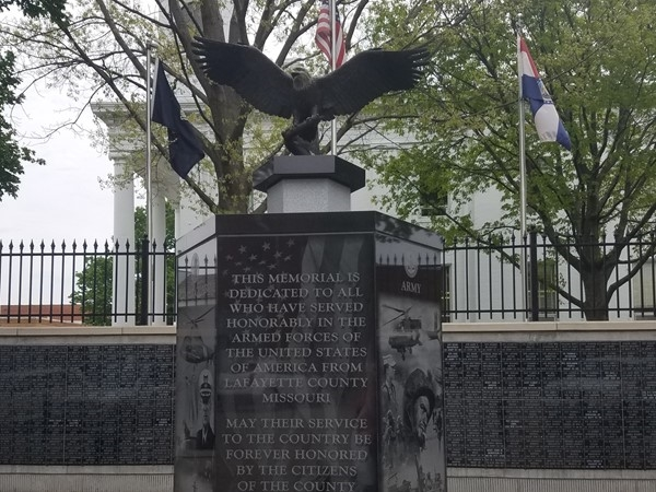Lafayette County Veterans Memorial. Thank you to all that have served! God Bless America