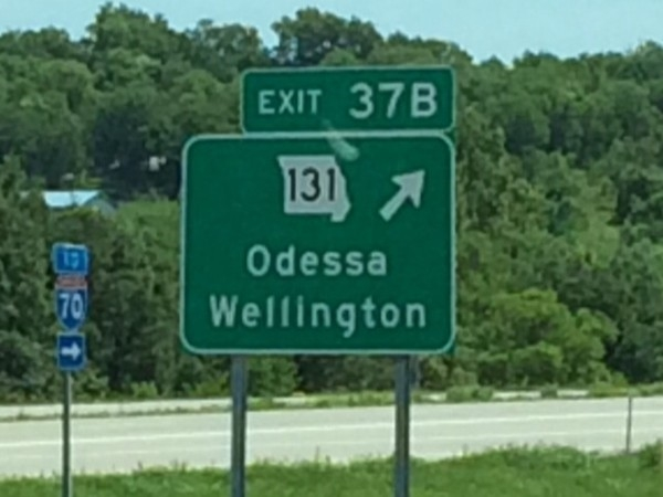 Exit 37B to Odessa, from I-70 eastbound