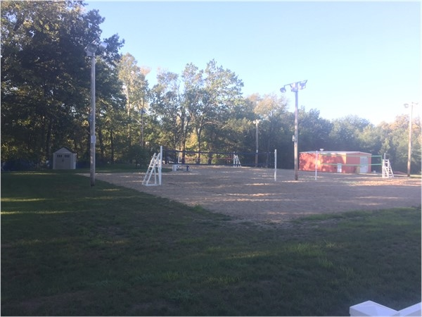 Binder Park has three courts for annual summer and fall sand volleyball