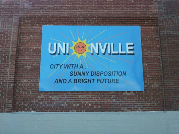 The sign really says it all, Unionville is a great community to live in