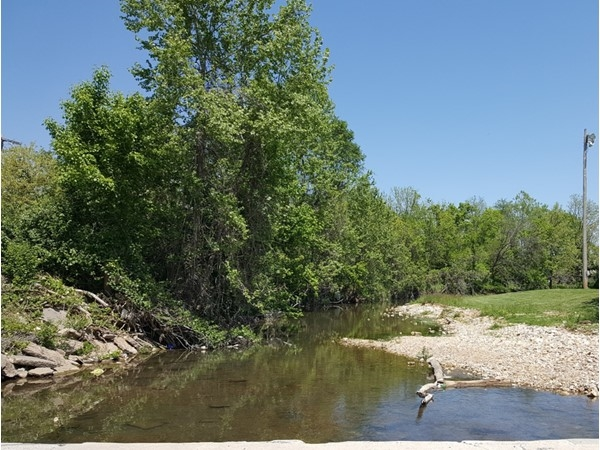 This is Flat Creek that runs through Cassville
