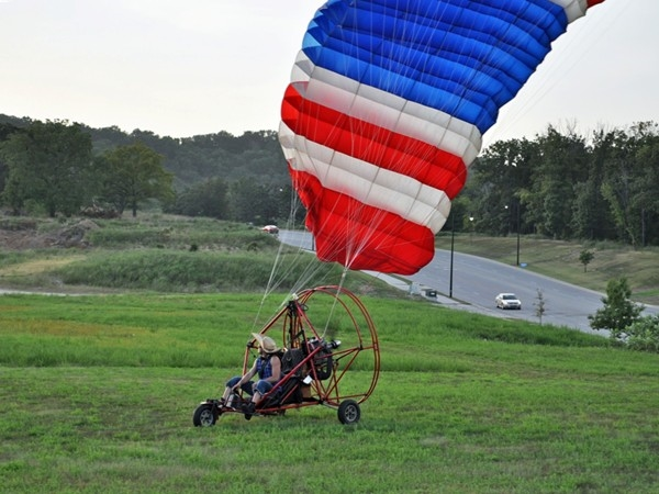 The Branson Balloon Festival also features powered parachutes