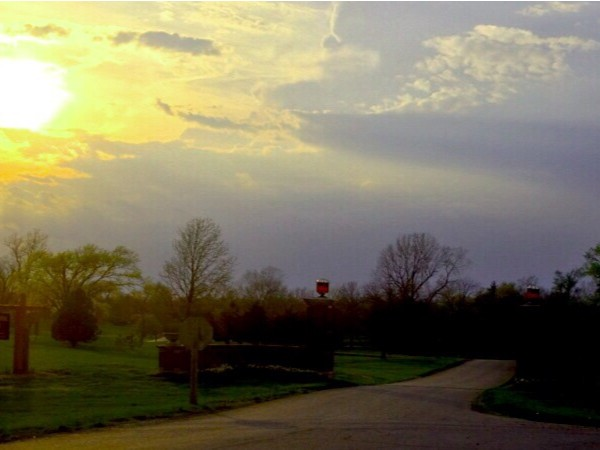 Sunset entrance at Confederate Memorial State Park... A great place for an evening walk!