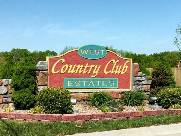 Warm, inviting and prestigious subdivision, West Country Club Estates