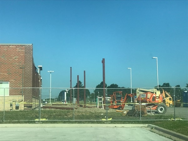 Aldi is expanding. They are open during construction