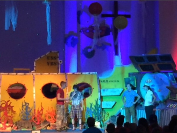 It's VBS season and First Baptist of Odessa thrilled kids with their submarine theme