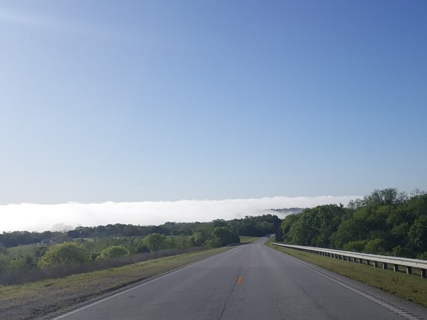 Stunning views of morning fog over Shell Knob! The Ozark weather is absolutely breathtaking