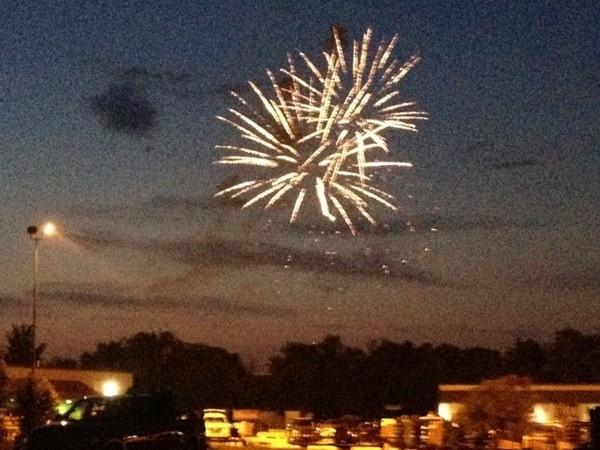 Community fireworks at the Missouri State Fair