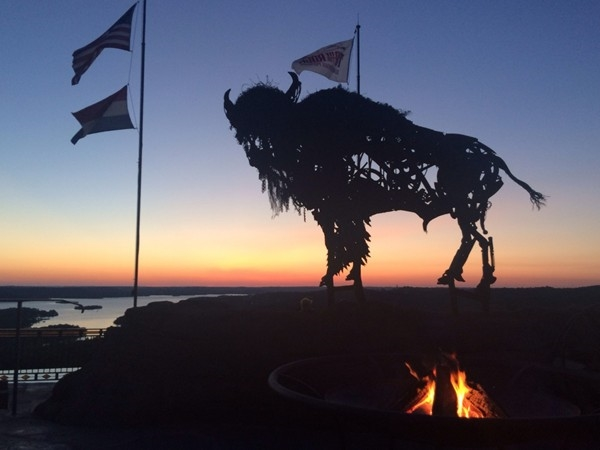 Top of the Rock - enjoy a firepit at sunset
