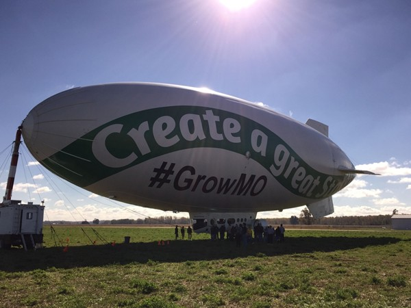 The #GrowMO blimp fascinated both young and old before taking off to the sky