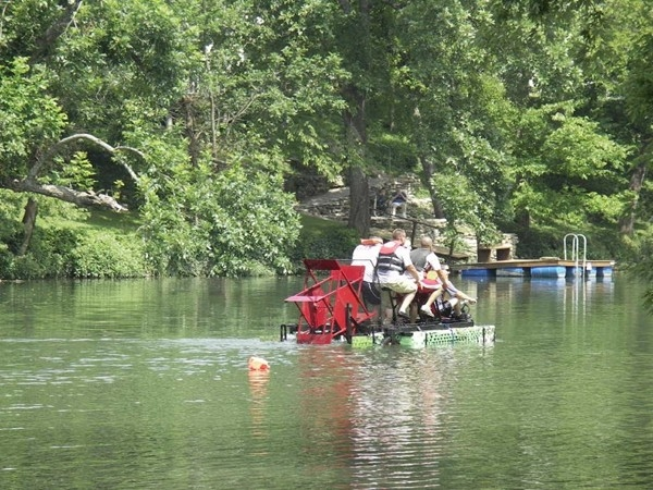 Kinetic Contraption Race at the Finley River Park in Ozark