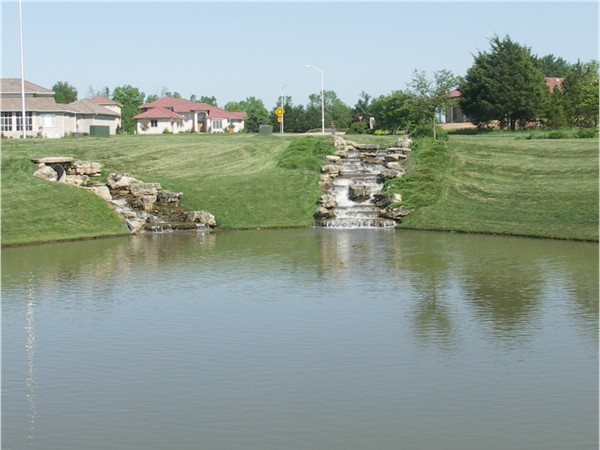 Waterfalls along the Fairways at Millwood Country Club