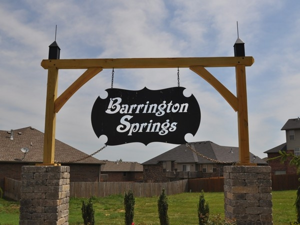 Barrington Springs Subdivision in Ozark Missouri