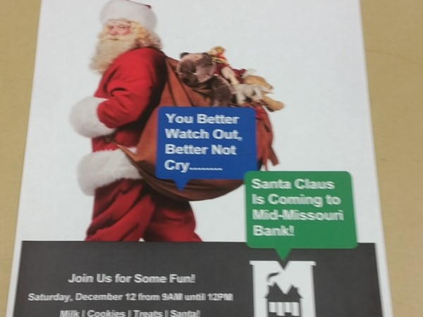 Christmas at Mid-Missouri Bank in Republic