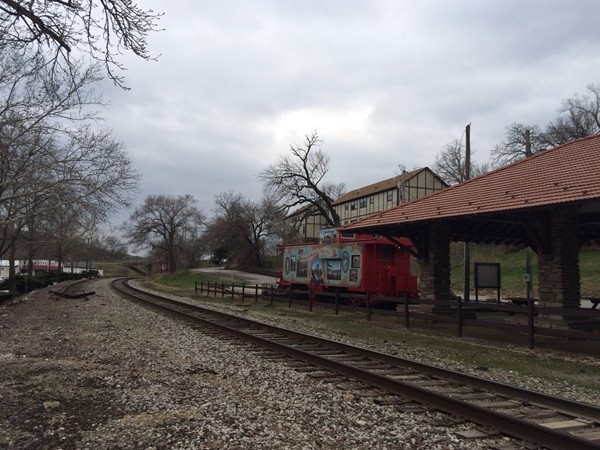 Hollister depot and tracks